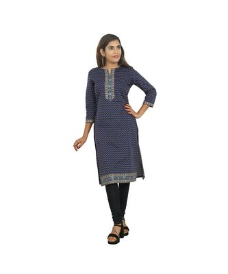 Blue Printed Kurti For Women