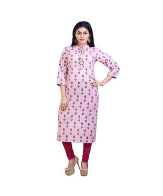 pink Floral Kurta For Women