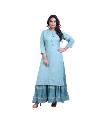 Layered floor Length Kurta For Women