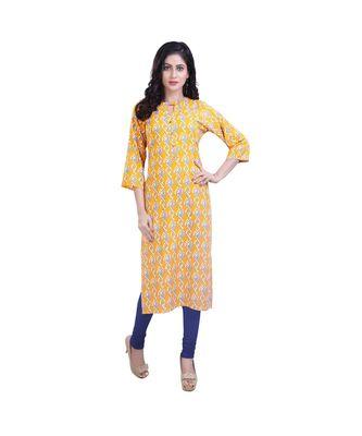 Yellow kurta For Women