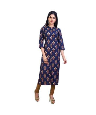 hand embroidered Blue kurta For Women