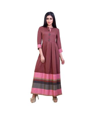 Rustic Pink Long Gown For Women