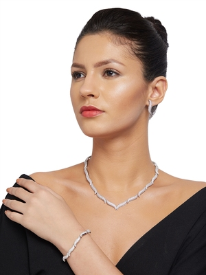Silver cubic zirconia jewellery