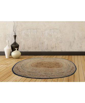 brown plain jute rugs 90 X 134 Cms