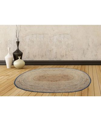 brown plain jute rugs 94 X 138 Cms