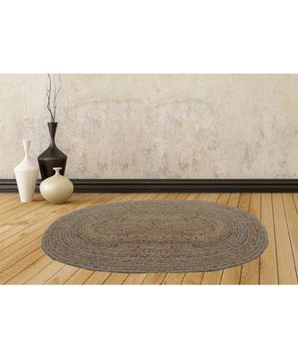 brown plain jute rugs 84 X 132 Cms