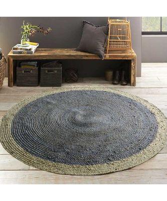 silver plain jute rugs Large Round