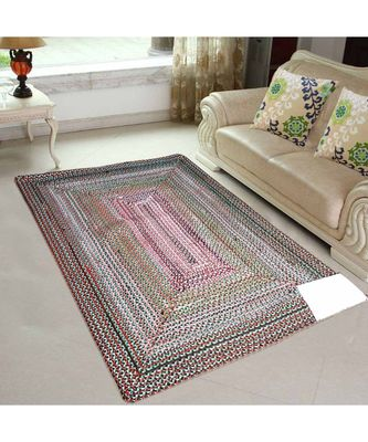multicolor plain cotton rugs 4 feet X 6 feet