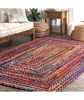 multicolor plain cotton rugs 3 feet X 5 feet