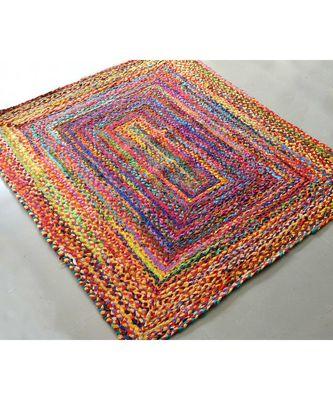 multicolor plain cotton rugs 5 Feet X 8 Feet