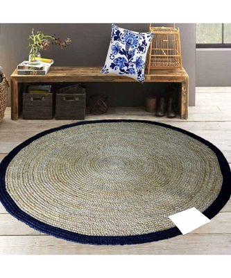 brown plain jute rugs Large Round