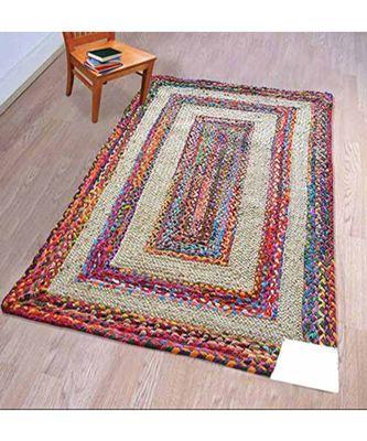 multicolor plain jute rugs 4 feet X 6 feet