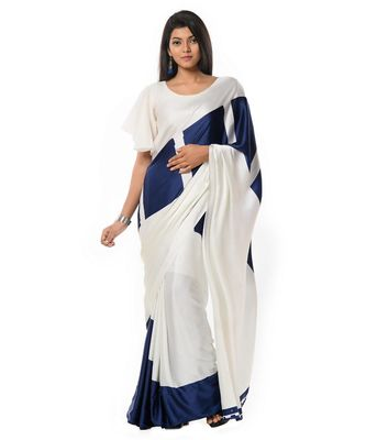 Blue and white corporate ensemble