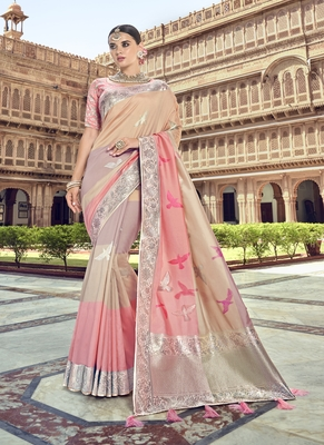 light multicolor woven patola saree with blouse