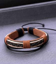 Black Brown Leather Braided Bohemian Style Cool Stacked Bracelet