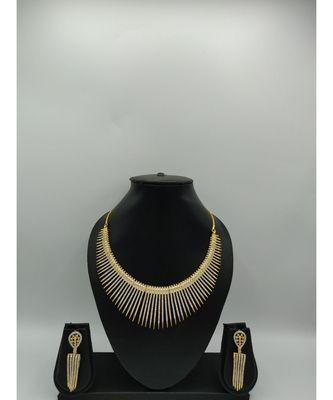 Gold american diamonds necklace sets