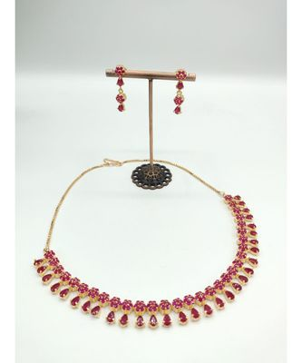 red american diamonds necklace sets