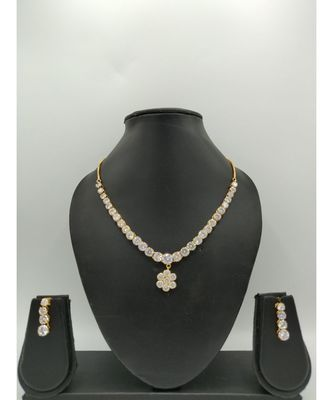 Zirconia Stone Necklace Set
