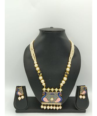 blue beaded jewellery necklace sets