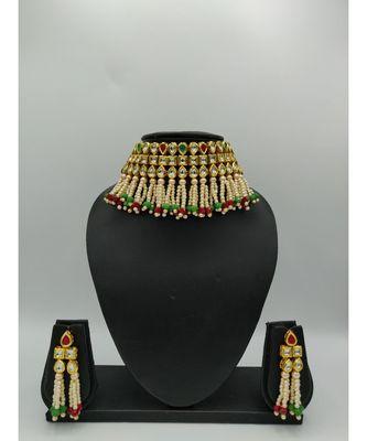 multicolor kundan necklace sets