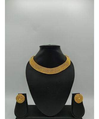 Gold Plated South Indian Designer Necklace Sets