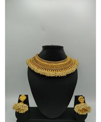Traditional Gold Polki South Indian Style Necklace Sets