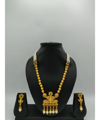 multicolor gold plated necklace sets