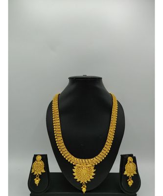 Gold Plated Traditional Designer South Indian Necklace Sets