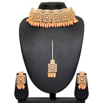 Pink necklace-sets