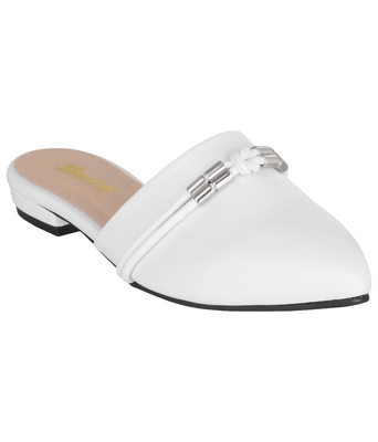 white SHOES DESIGNER BELLIES
