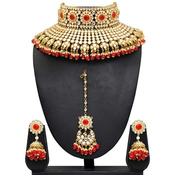 Red necklace-sets