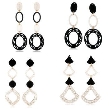 White crystal earrings