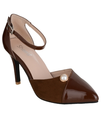 brown SHOES STILETTO HEELS SANDALS