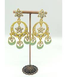 Gold Plated Green Chandbali