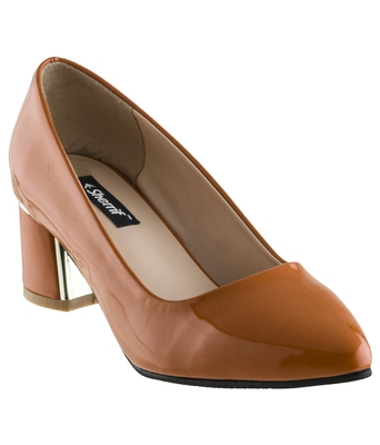 orange SHOES BLOCK HEELS PUMPS