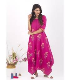 Pink Cotton Helene Hand Block print Dress 5