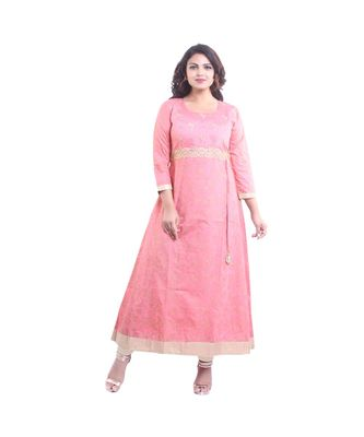 Designer Pink Anarkali Kurta For Women