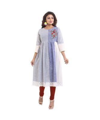 Designer blue long Kurta For Women
