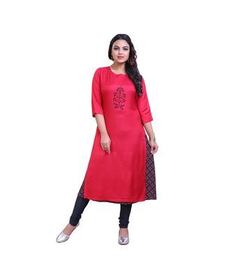 Pink Kurta with attached Jacket For Women