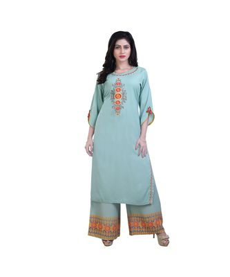 Embroidery Kurta with palazzo For Women