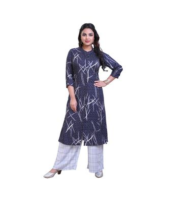 Printed Kurta with Palazzo For Women