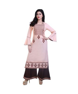 embroidered Kurta with Palazzo For Women