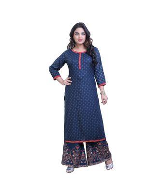 embellished kurta with palazzo For Women