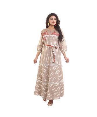 Designer Printed & embroidered Long Anarkali Dress For Women