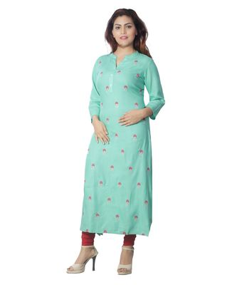 Green embroidered Kurti For Women