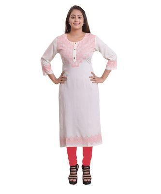 Pink Printed Kurti For Women