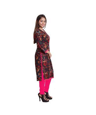 Red Printed Kurti For Women