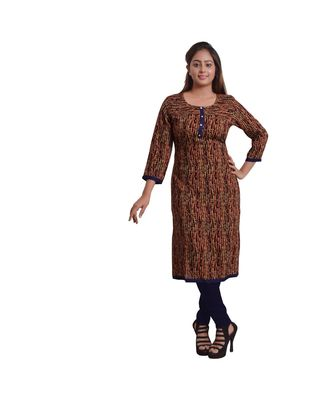Red Printed Kurti For Women