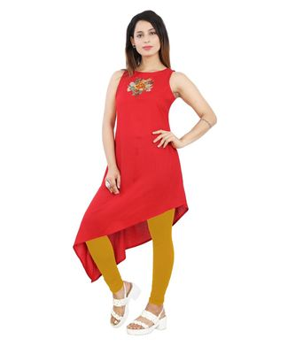 Red embroidered Kurti For Women