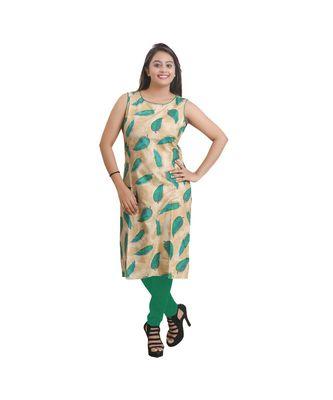 Green Printed Kurti For Women